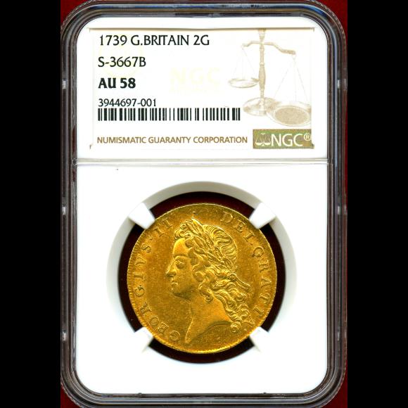JCC   ジャパンコインキャビネット / イギリス 1739年 2ギニー 金貨 ...